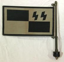 1933 Hausflagge-rad Drapeau de Voiture Waffen SS
