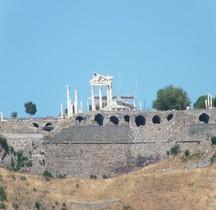 Turquie Pergame Acropole Trajaneum Temple de Trajan