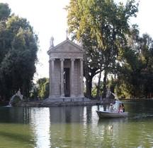 Rome Villa Borghese Jardins Tempio di Esculapio