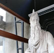 Statuaire Renaissance Moïse Michel Angelo  Rome  Copie Montpellier