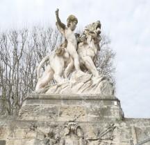 Hérault Montpellier Place Royale Peyrou Statues Lions  Injalbert