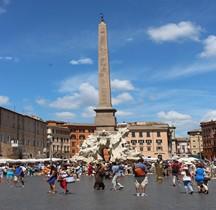 Rome Rione Parione Piazza Navona Fontana dei Quattro Fiumi