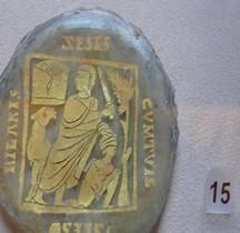 Rome Verrerie Verre Inclusion Fond Catacombes Rome  SCV Rome