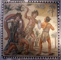 Mosaïque Rome Italie Tusculum Villa Ruffinella  Lotta tra Dioniso e gli Indiani Roma Palazzo Massimo