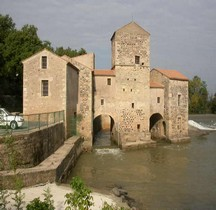 Hérault St Thibery Moulin Medieval XIIe siècle