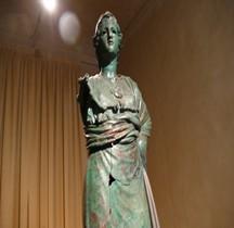 6 Statuaire Etrurie Minerva d' Arezzo Florence Musée Archéologique