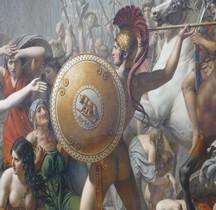 Peinture XIXe Rapt des Sabines  Paris Louvre