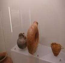 Etrurie Céramique Askos Annulaire decors de Guerrier Romer MNE