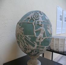 Statuaire Atlas Farnèse Sphère Copie Rome EUR
