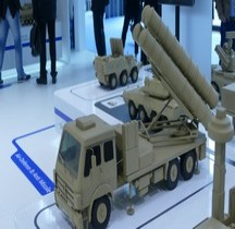Missile Sol Air Syteme Sky Dragon 50 Tractor Erector Launcher TEL Maquette Eurosatory 2016