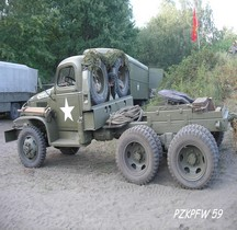 GMC CCKW 352 Chassis Court Modifiée  Tracteur