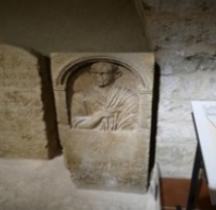 Rome Stèle Funéraire Caius Pompeus Anteron France Beziers