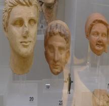 Etrurie Statuaire Terracotta Têtes Rome MNE
