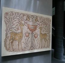Mosaïque Rome Mediterranée  Mosaïque Gazelles Affrontées  Paris Louvre
