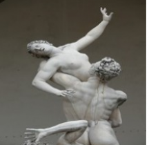 Statuaire Renaissance  Ratto delle Sabine Giambologna Florence Loggia dei Lanzi