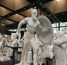 Statuaire Grèce Munich Temple d'Aphaïa Egine Hoplite Ancienne Reconstitution Copie Montpellier