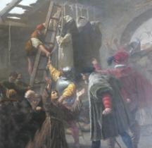 Peinture XIXe Cesare  Fracassini Martyrs de Gorcum 1867 Vatican