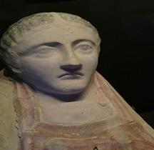 Egypte Sarcophage Tete Féminine Terre Cuite France Mougins