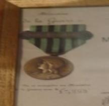 1911 Médaille Engagé Volontaire Guerre 1870 1871