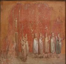 Fresque Rome Italie Rome Santa Maria Maggiore Calendario dipinto frammentario Vatican