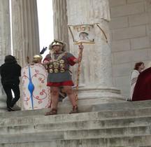 Legion Porte enseigne Vexillifer Legio I Consularis Nimes 2013