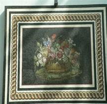 Mosaïque Rome Italie Rome Bouquet de Fleurs Vatican