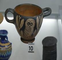 Etrurie Céramique Skyphos-Glaux à la chouette Comacchio