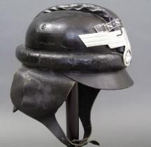 1931 Nationalsozialistisches Kraftfahrkorps Schwarzer Ledersturmhelm