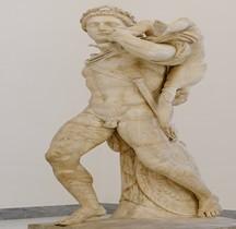 Statuaire Rome Eroe greco con fanciullo Farnèse Naples
