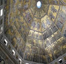 Mosaïque Médiéval Italie Battistero di San Giovanni Battista  Florence