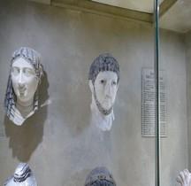 Egypte Sarcophage Tetes  Terre Cuite France Marseille Vieille Charité