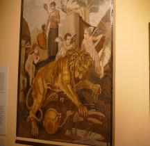 Mosaïque Rome Italie Anzio Mosaïque Lion et Amours Rome Montemartini