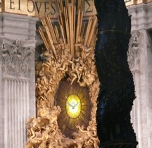 Vitrail Baroque 1655 Colomba dello Spirito Santo Basilica San Pietro Roma
