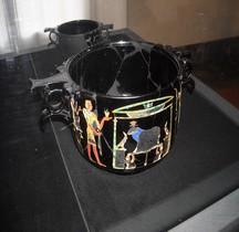 Rome Ceramique Placage Obsidienne Décor Egypte  Villa San Marco  Stabiae Naples MAN
