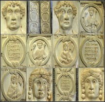 Moyen Age Byzance Ivoire Diptyque Consulaire de Theodorus Philoxenus Paris BNF