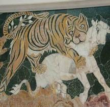 Mosaïque Rome Italie Rome Basilique Bassus Tigresse Vs Taureau Musei Capitolini