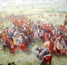 Peinture XIXe Waterloo Panorama