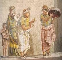Mosaïque Rome Italie Pompéi Musiciens Ambulants Culte Cybèle  Villa Cicéron Naples MAN