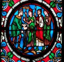 Vitrail Médiéval France St Denis Basilique St Denis