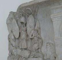 Pouvoir Tropaeum Trophée Romain Bas relief Rome Palazzo Altemps