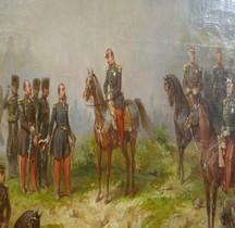 Peinture XIXe Paris Invalides Bataille Solferino 1859 E Charpentier