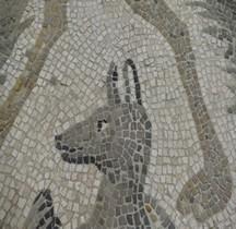 Mosaïque Rome Italie Anubis Rimini