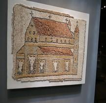 Mosaïque Rome Mediterranée  Mosaïque Eglise avec Tours  Paris Louvre
