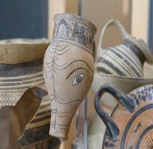 Etrurie Céramique Rhyton Porc Rome Palazzo Altemps