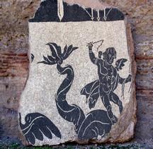 Mosaïque Rome Italie Rome Monde Marin Thermes de Caracalla
