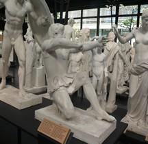 Statuaire Grèce Munich Temple d'Aphaïa Egine Archer Fronton Est Ancienne Reconstitution Prè 1960 Copie Montpellier