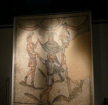 Mosaïque Médiéval Haut Italie Danza dei geni delle Quatro Stagioni Ravenne