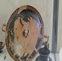 Grèce Attique Céramique Kilix  Peintre Pentisilea  Rapt Ganimede par Zeus Ferrare
