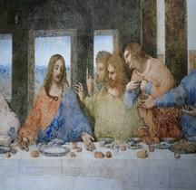 Peinture Renaissance La Cène Léonardo de Vinci Milan Copie  Florence