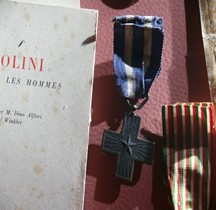 1918 Croce al merito di guerra Regno Italia  Bastogne